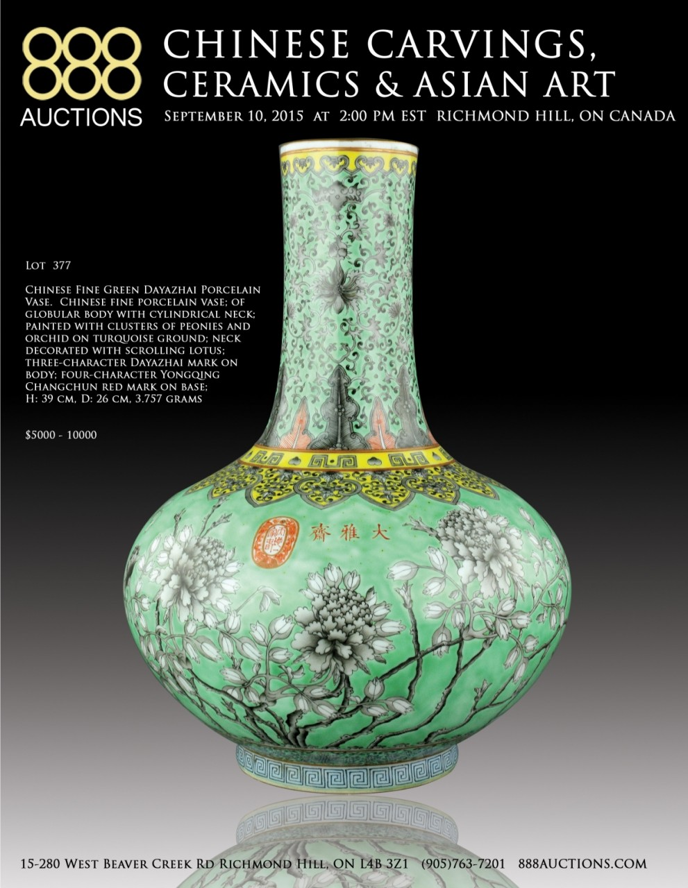 NEXT AUCTION 10 SEPT 2015 CHINESE CARVINGS, CERAMICS & ASIAN WORKS OF ART