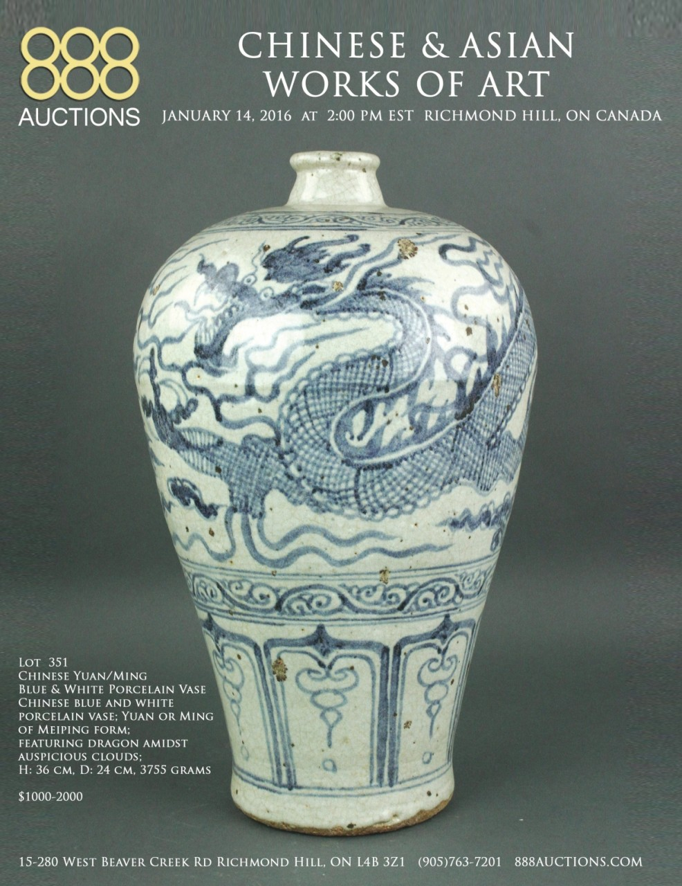 NEXT AUCTION 14 JAN 2016 CHINESE & ASIAN WORKS OF ART