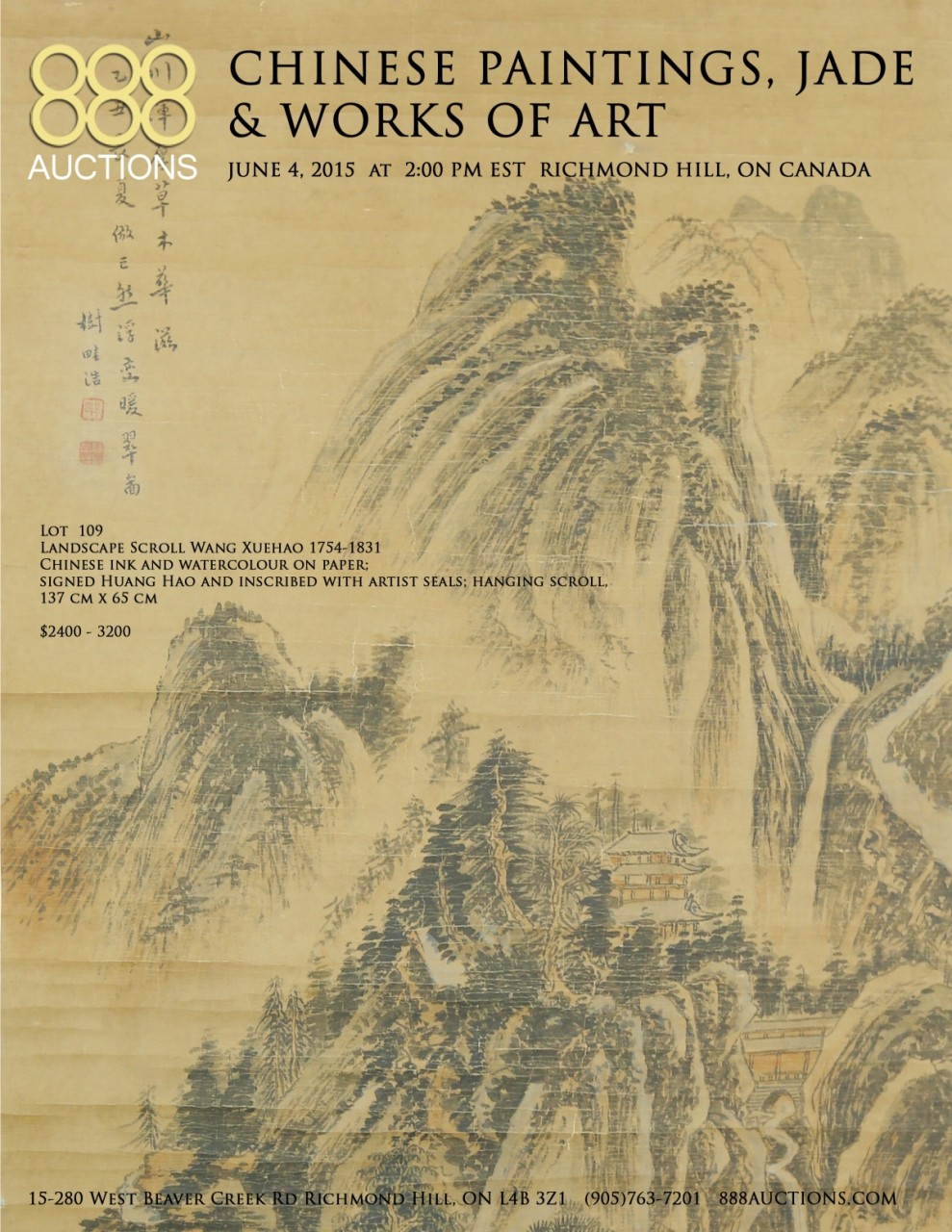 04 JUNE 2015 CHINESE PAINTINGS, JADE & WORKS OF ART