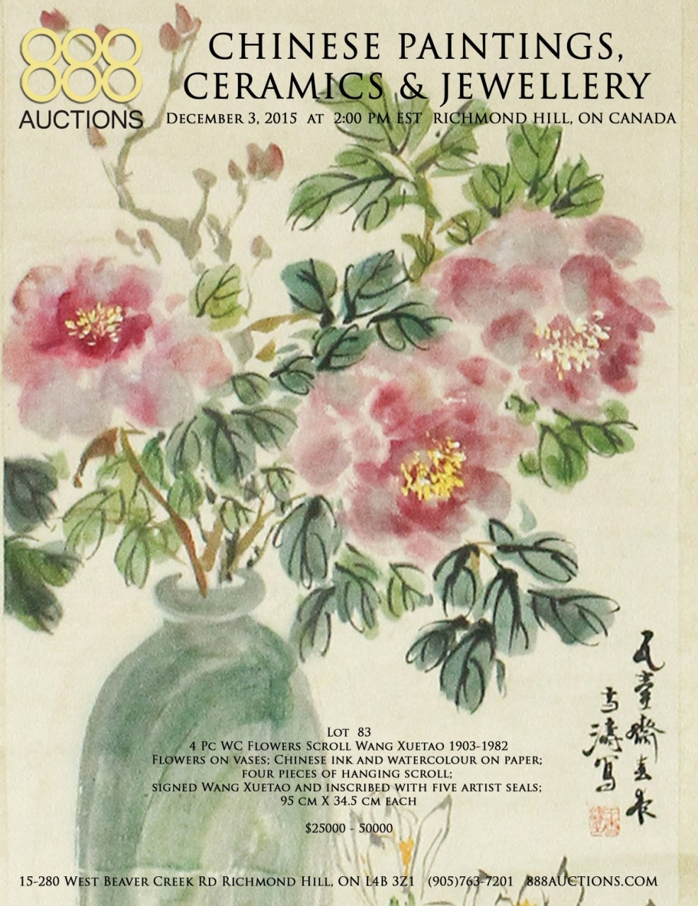 NEXT AUCTION 03 DEC 2015 CHINESE PAINTINGS, CERAMICS & JEWELLERY