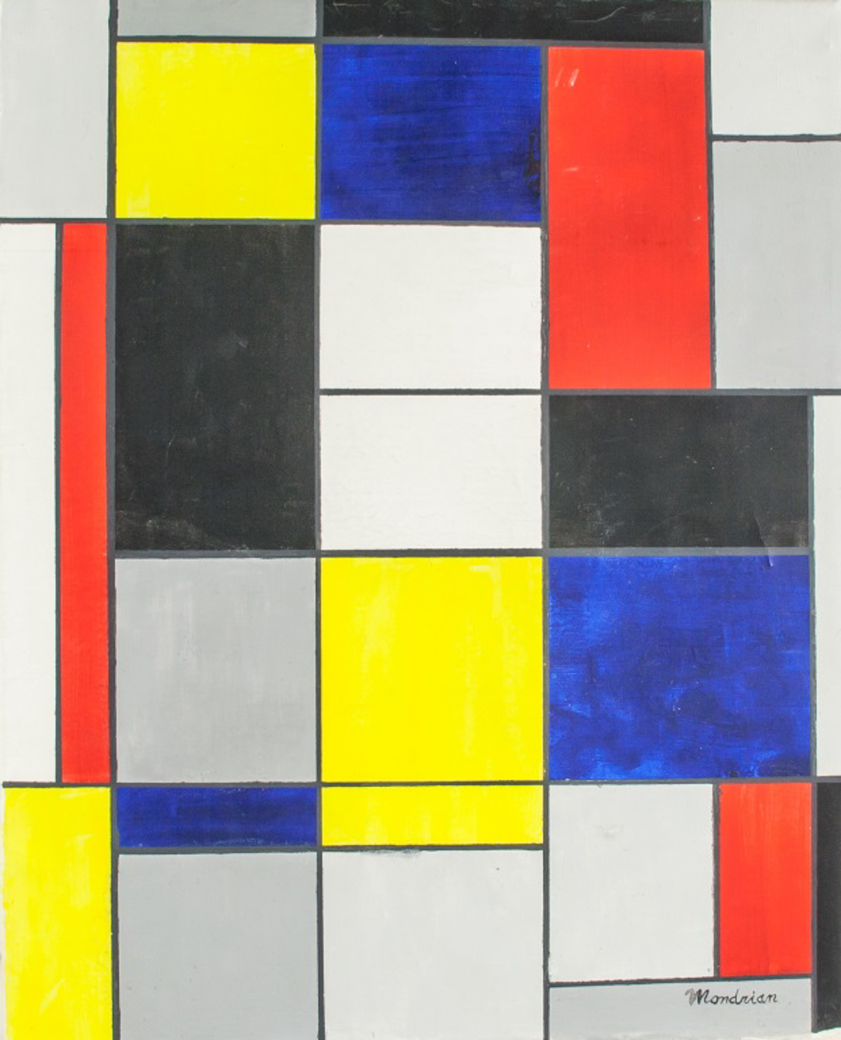Piet Mondrian Dutch Oil Geometric Abstract For Auction At On